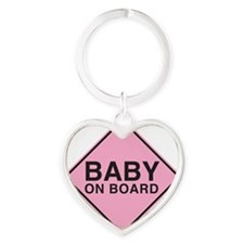 Baby on Board Heart Keychain