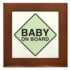 Baby on Board Framed Tile