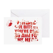 ZOMBIES: ONE BITE AND YOUR DEAD AIM  Greeting Card