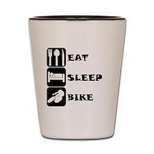 Eat Sleep Bike Shot Glass