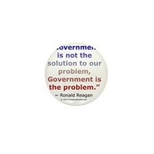 Ronald Reagan on Government Mini Button