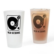 Old School DJ Drinking Glass