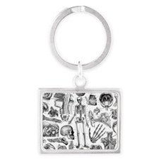 anatomy_white_pillow_cases Landscape Keychain