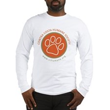 CCHS paw round logo with web s Long Sleeve T-Shirt