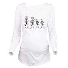 Personalized Super Family Long Sleeve Maternity T-