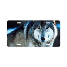 Timber wolf Aluminum License Plate