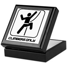 Climbers Only Keepsake Box