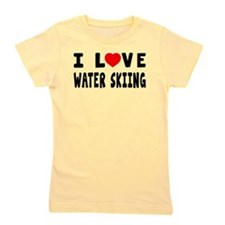 I Love Water Skiing Girl's Tee