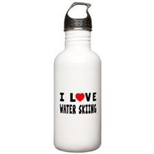 I Love Water Skiing Water Bottle