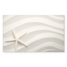 Single white starfish on sand Decal