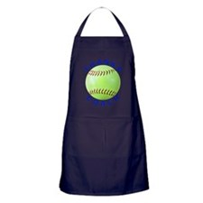 Softball Coach Thank You Unique Gifts Apron (dark)