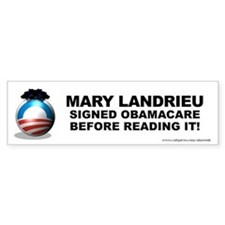 Landrieu Signed Bumper Sticker