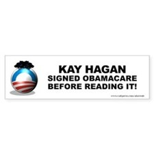 Hagan Signed Bumper Sticker