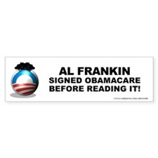 Frankin Signed Bumper Sticker