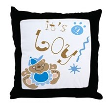 Its A Boy Throw Pillow