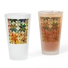 Fun Patchwork Quilt Drinking Glass
