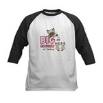 Big Cousin of Twins (Kitty) Kids Baseball Jersey