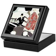 Art Deco Gatsby Scene Keepsake Box