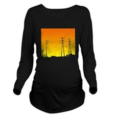 Power lines Long Sleeve Maternity T-Shirt