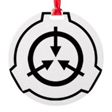 SCP Foundation Logo  - Black on Whi Ornament