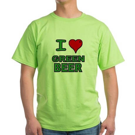 I heart Green Beer Mint Green T-Shirt