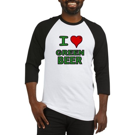 I heart Green Beer Baseball Jersey