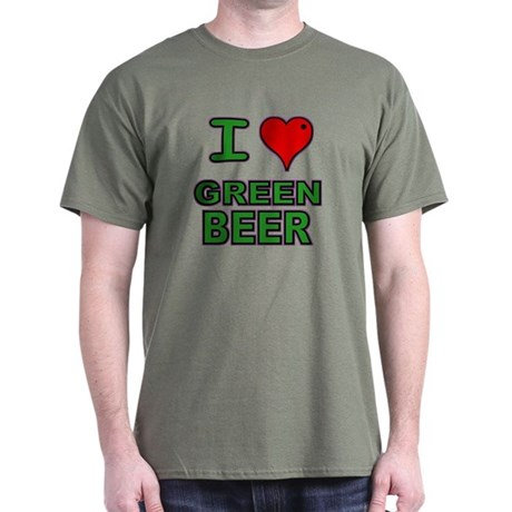 I heart Green Beer Dark T-Shirt