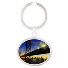 San Francisco-Oakland Bay Bridge Oval Keychain