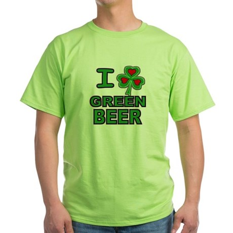 I Shamrock Heart Green Beer Mint Green T-Shirt