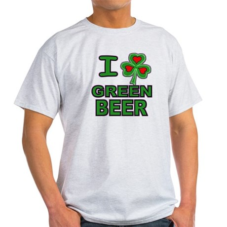 I Shamrock Heart Green Beer Light T-Shirt