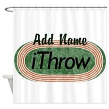 Track and Field iThrow Shower Curtain