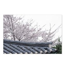 Blooming tree near roof Postcards (Package of 8)