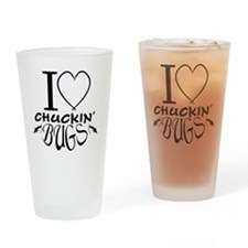Chuckin bugs Drinking Glass