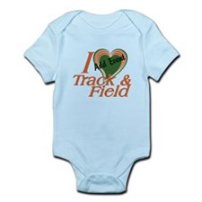 Love Heart Track and Field Event Infant Bodysuit