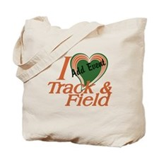 Love Heart Track and Field Event Tote Bag