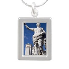 Caesars Palace Hotel and Silver Portrait Necklace