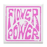 Flower Power (pink) Tile Coaster