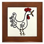 Wobbly Rooster Framed Tile Trivit