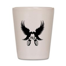 Dove and Grenade Hollywood Undead Shot Glass