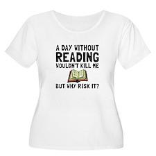Risk It Reading Plus Size T-Shirt