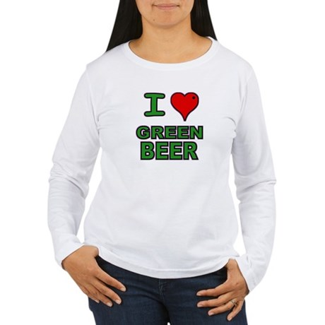 I heart Green Beer Women's Long Sleeve T-Shirt