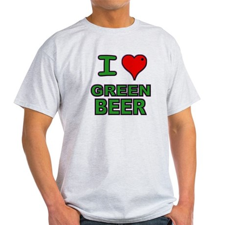I heart Green Beer Light T-Shirt