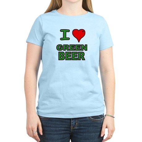 I heart Green Beer Women's Light T-Shirt