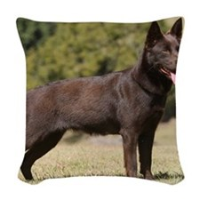 Australian Kelpie 9Y641D-151 Woven Throw Pillow