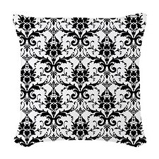 damask Woven Throw Pillow