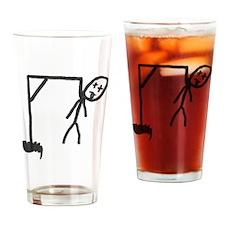 Hangman Drinking Glass