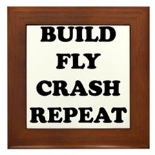 BuildFlyCrash10x10 Framed Tile