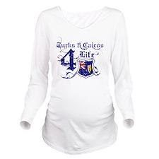 turks $ caicos Long Sleeve Maternity T-Shirt