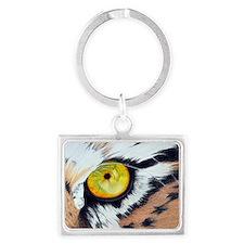 Tiger Eye Rectangle Landscape Keychain