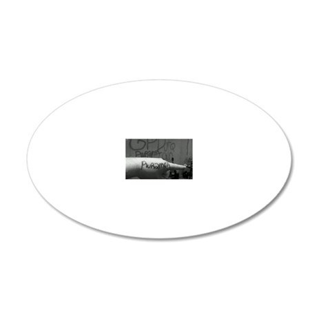 Jon 20x12 Oval Wall Decal